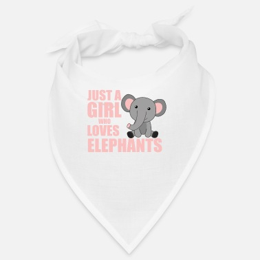 Just Just a girl who loves elephants süße Tiere rosa - Bandana