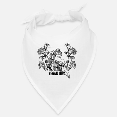 Vegan Diva - lady with flowers - Bandana