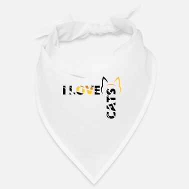 Love I love cats - Bandana