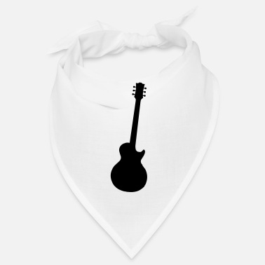 Classic Typical Classic Rock Guitar Silhouette - Bandana