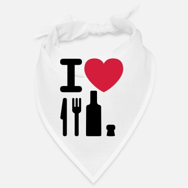 I Love Ny I love NY knife fork bottle cork New York - Bandana