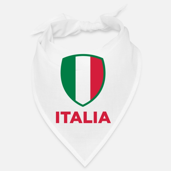 Turin Bandanas - National flag of Italy - Bandana white