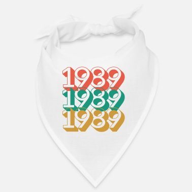 1989 birthday 31 years retro vintage 89 - Bandana