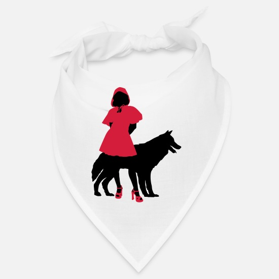 Rouge Bandanas - Red Riding Hood - Bandana blanc
