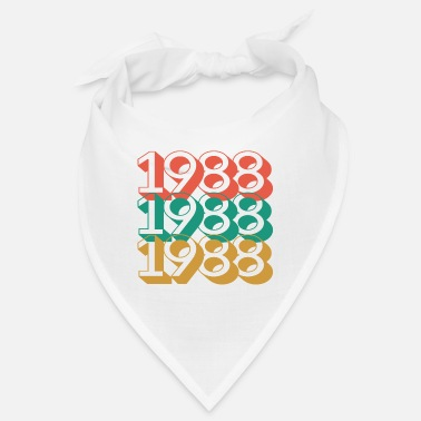 1988 birthday 32 years retro vintage 88 - Bandana