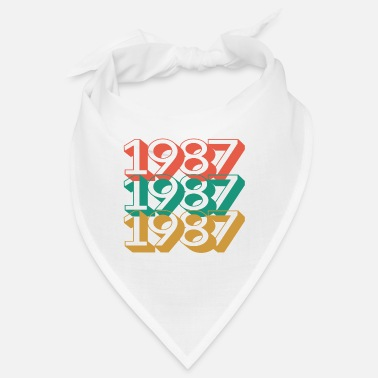 1987 birthday 33 years retro vintage 87 - Bandana