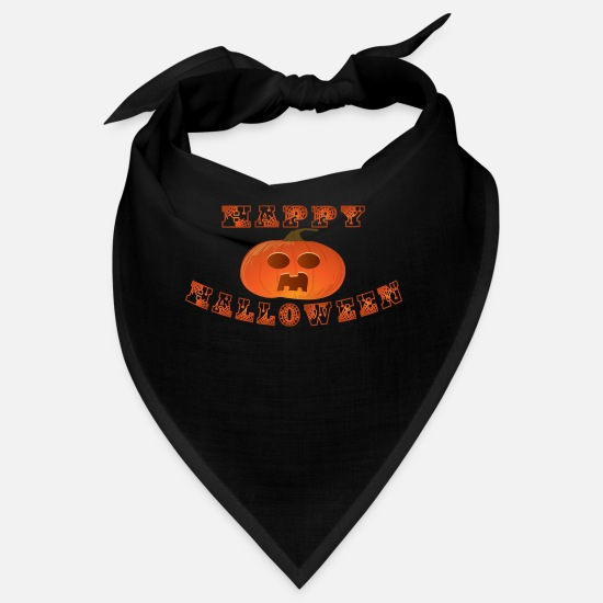 Horror Bandanas - Halloween Horror Kürbis Spinne Monster Horrornacht - Bandana Schwarz