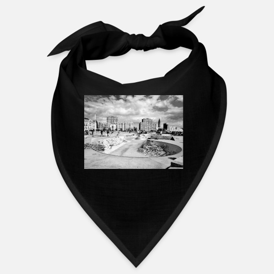 Graffiti Bandanas - City black & white - RA - Bandana Schwarz
