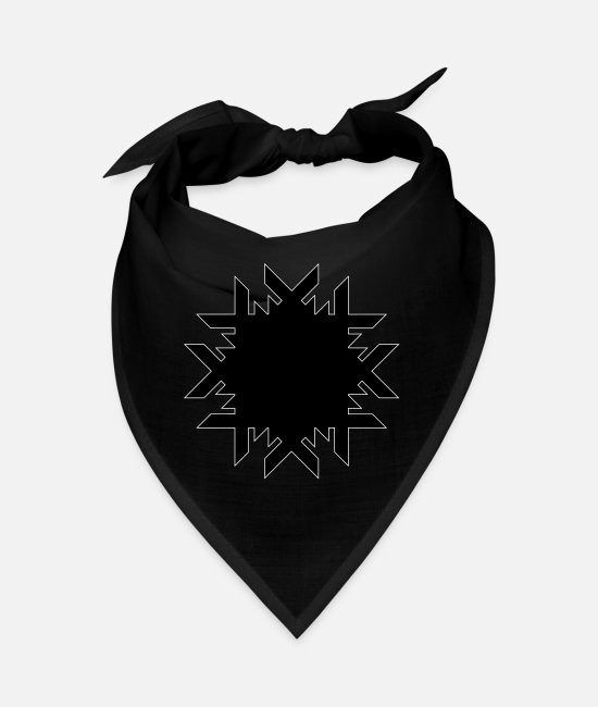 Flocon Bandanas - Flocon de neige - Bandana noir