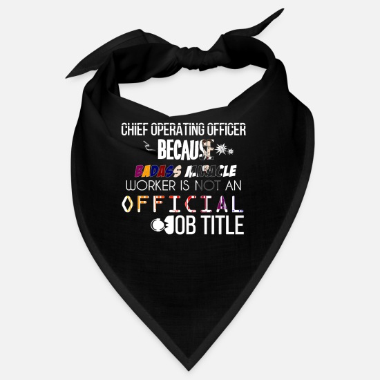 Chief Operating Officer Idea Gift Bandanas - iChief Operating Officer - Chief operating officer - Bandana black