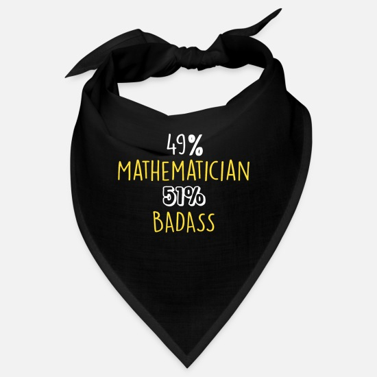 Career Bandanas - 49% Mathematician 51% Badass - Bandana black