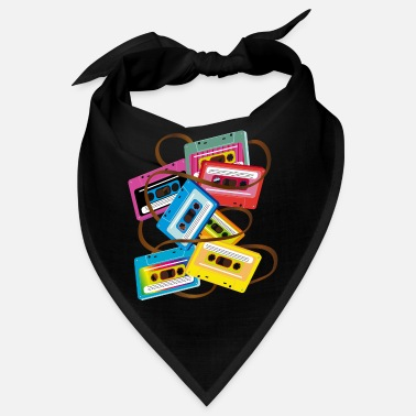 Band Salad colorful 80s music cassettes with band salad - Bandana
