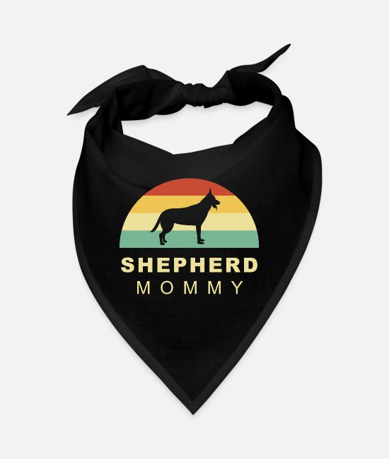 Male Puppy Dog Puppy Bandanas - Cool retro vintage german shepherd dog mom - Bandana black