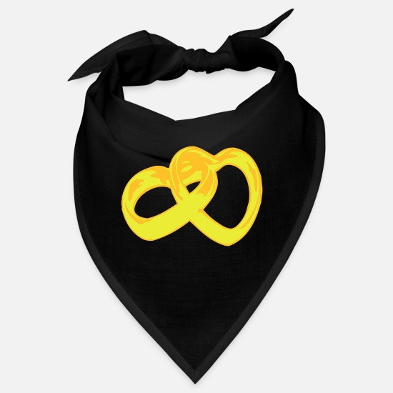 Breasts Cow Mariage Dance For Happy I Love You Bandanas - bachelor heart hearts - Bandana black