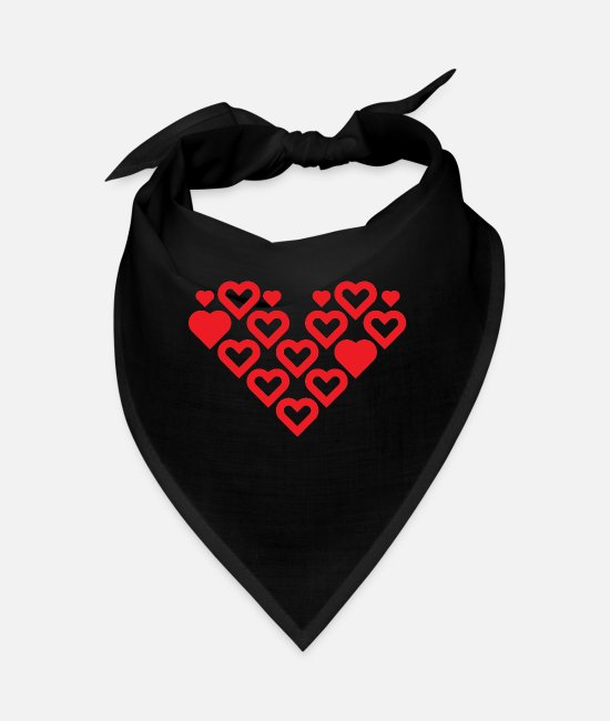 Heart Bandanas - Heart of hearts - Bandana black