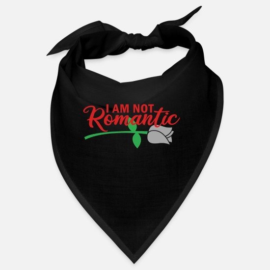 Love Bandanas - I AM NOT ROMANTIC - Bandana black