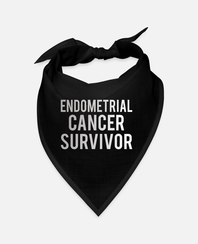 Chemo Bandanas - Endometrial Cancer: Endometrial Cancer Survivor - Bandana black