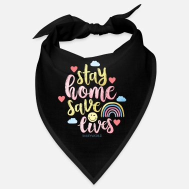 SmileyWorld Stay Home Red levens - Bandana
