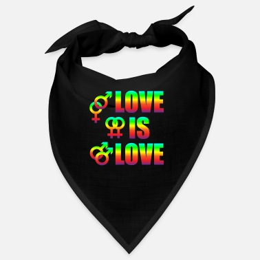 Varie Love Is Love Gay Lesbians Love Freedom - Bandana
