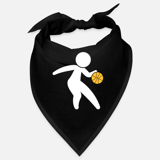 College Bandanas - A Basketball Player Dribbling The Ball - Bandana black