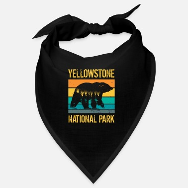 Californie Ours vintage du parc national de Yellowstone - Bandana