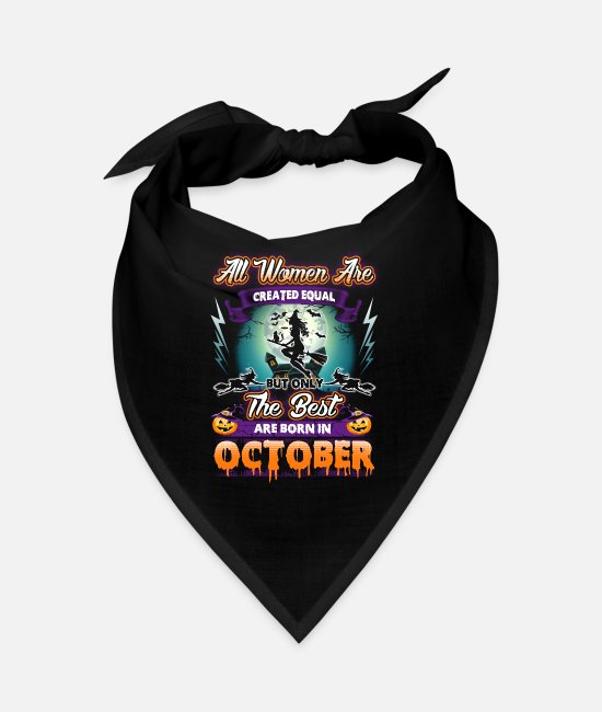 Bats Bandanas - Women design for Birthdays in October - Halloween - Bandana black