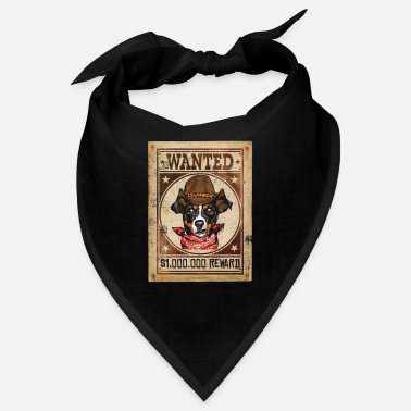 Wanted Affiche de récompense Wanted Dog Wilder Western Hund - Bandana