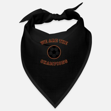 Schland We are the champions (black - red - gold) - Bandana