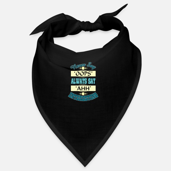English Bandanas - Never say oops - Bandana black