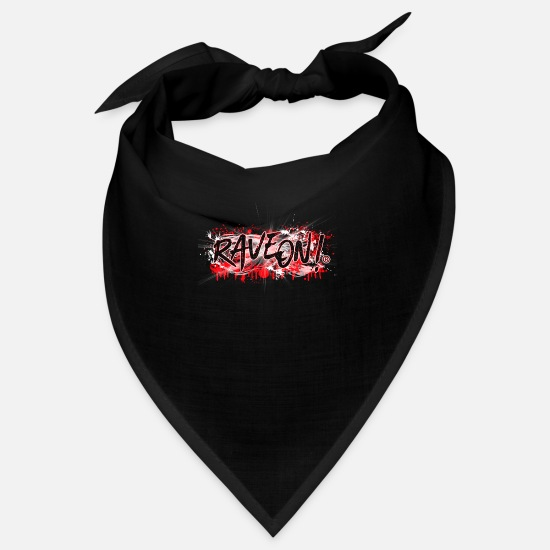 Skateboard Bandanas - Rave On!® Bloody Graffity - Bandana Schwarz