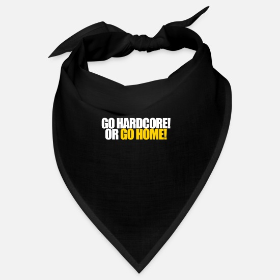 Training Bandanas - #TOP - GO ... OR GO HOME - Bandana black