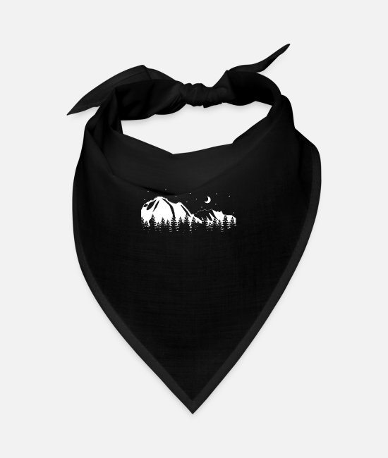 Mountains Bandanas - Mountain landscape Camping nature - Bandana black