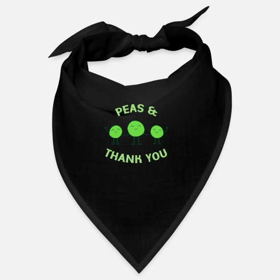 Group Bandanas - Peas Thank you 67 F - Bandana black