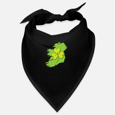 Ireland Shamrock Ireland Irish map with shamrock - Bandana