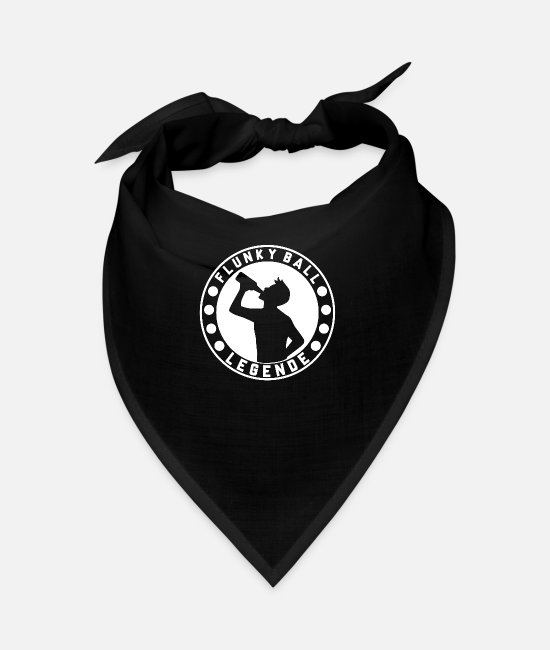 Martial Arts Bandanas - Flunky Ball Drinking Party Malle Studying Student - Bandana black