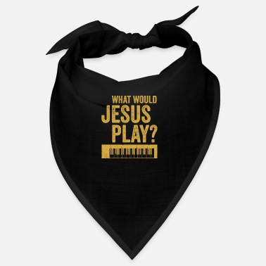 Rave What would jesus play Synthesizer Musiker Geschenk - Bandana