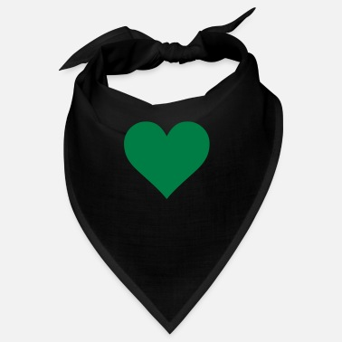 Serce Green Heart Love - Bandana