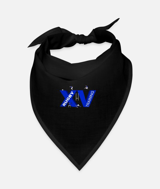 Stadium Bandanas - XV TRAINING blue - Bandana black