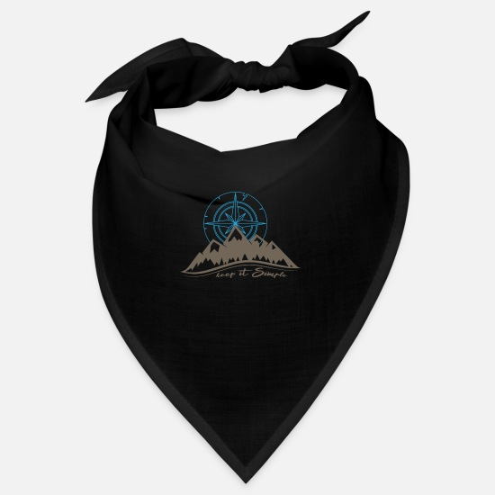 Gift Idea Bandanas - Happy Camping shirt - Bandana black