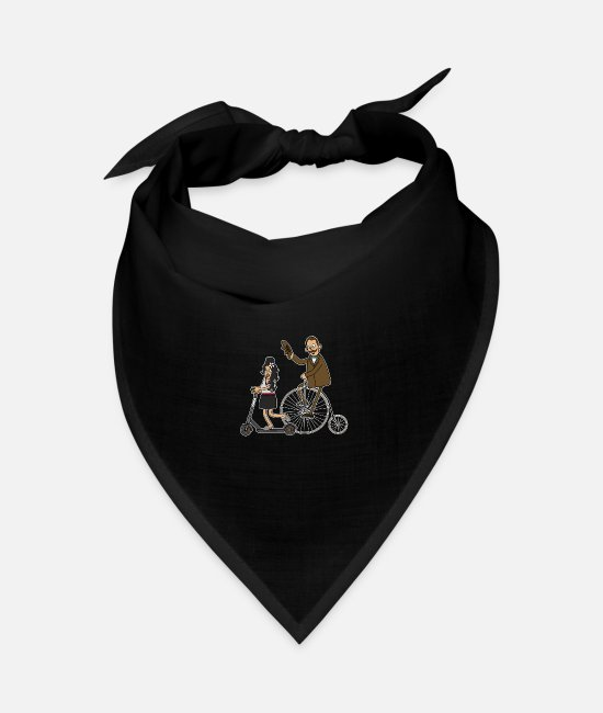Hipster Bandanas - Cyclists and e-scooters - dark underground - Bandana black