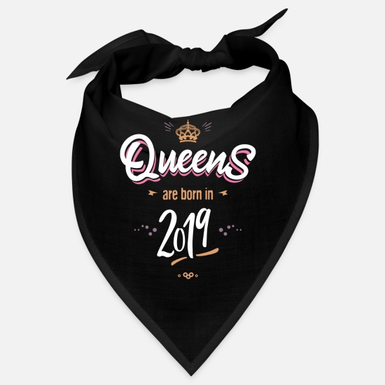 Tochter Bandanas - Queens are born in 2019 - Bandana Schwarz