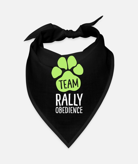 Motion Bandanas - Team Rally Obedience - Dog Paws - Dog Sport - Bandana black