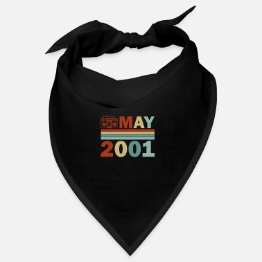 20th 20th Birthday May Vintage 2001 Gift Idea May - Bandana