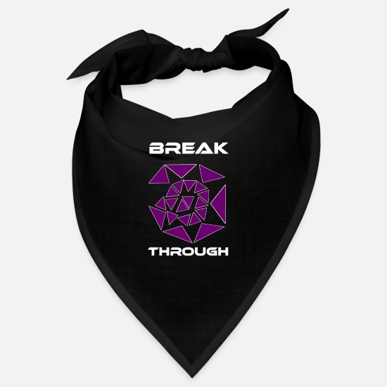 Broken Bandanas - Break - White - Bandana black
