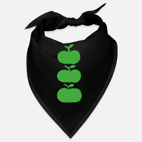Green Bandanas - apple green apple - Bandana black