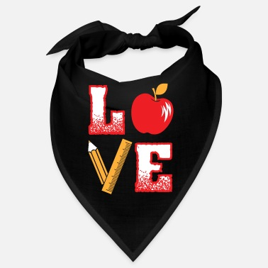 Teacher LOVE Learning Teacher Teacher School Teacher Teacher - Bandana