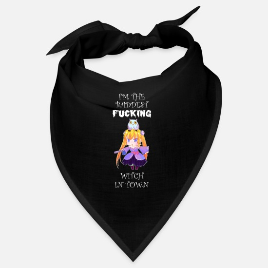 Cosplay Bandanas - Halloween witches sayings For ladies - Bandana black