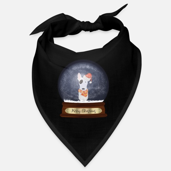 Bull Terrier Bandanas - English Bull Terrier Christmas Gift - Bandana black