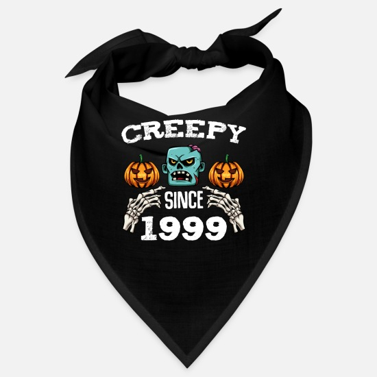 Birthday Bandanas - Scary Since 1999 - Halloween 20th Birthday 20 - Bandana black