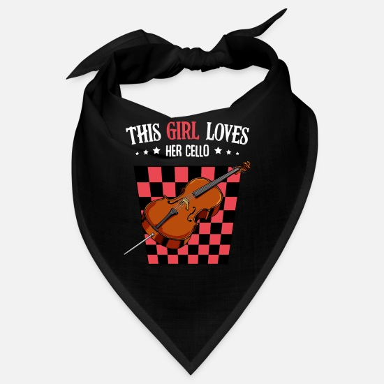 Gift Idea Bandanas - This Girl Loves Her Cello saying Cellist Gift - Bandana black